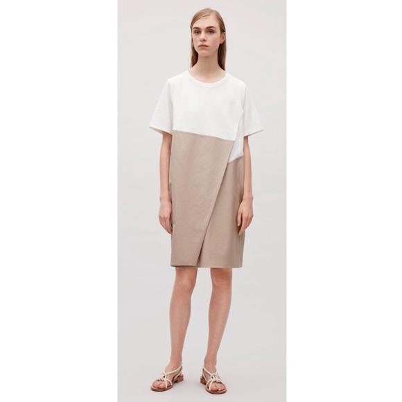 2490894964cb COS Dresses | 45 Short Sleeve Dress W Overlap Detail | Poshmark